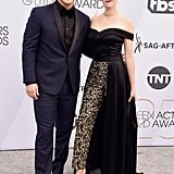Wyatt Nash and Aubrey Swander at the 2019 SAG Awards