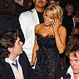 John Mayer chatted with a very tan Jessica Simpson in 2005.