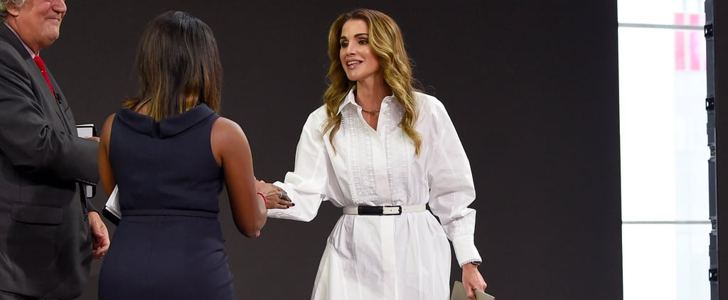 Queen Rania Just Jazzed Up Her Classic Shirt Dress Like No One Else Can