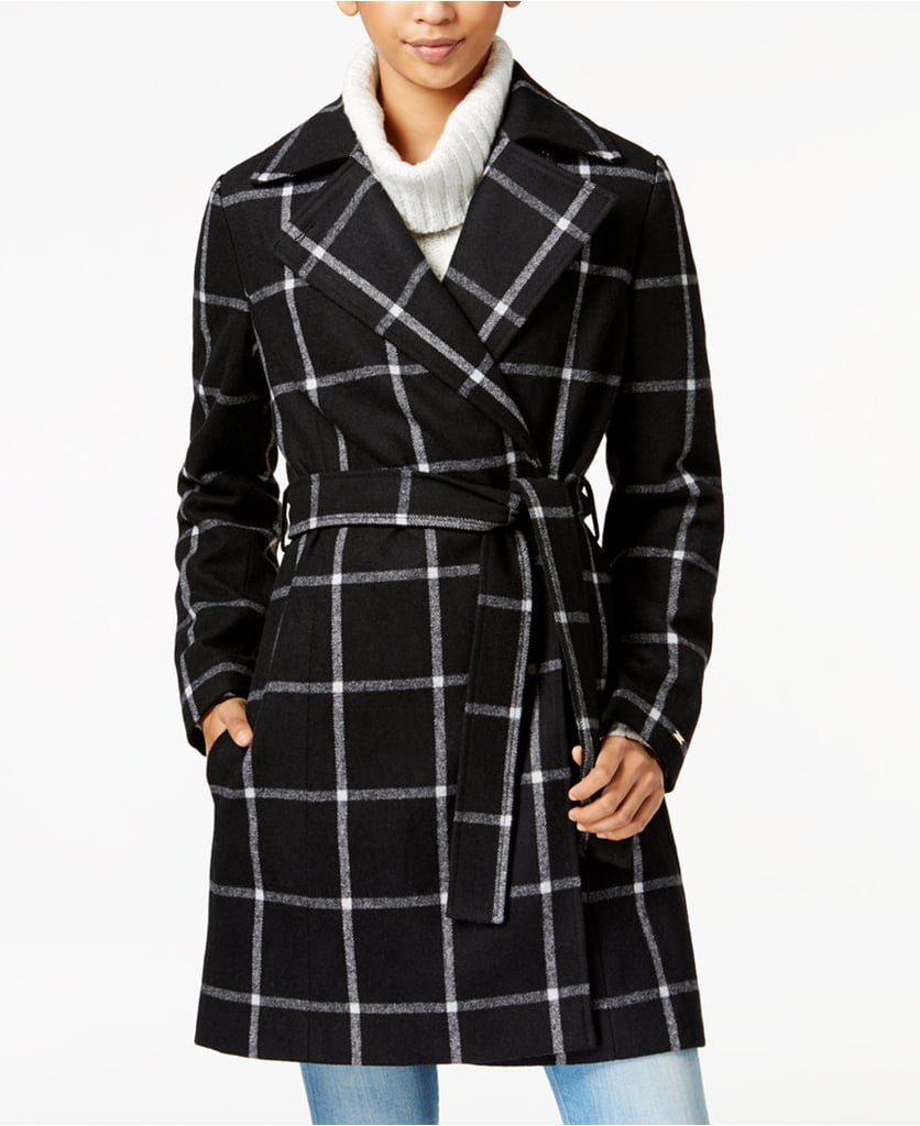 Windowpane coat