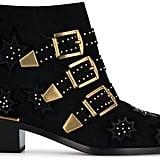 Chloé Black Suede Susanna Buckle boots