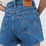 Levi's Ribcage High-Waisted Denim Shorts