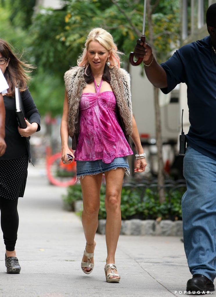 Naomi Watts filmed again for St. Vincent de Van Nuys on Wednesday in NYC.