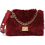 Fendi Medium Kan U Genuine Shearling Shoulder Bag