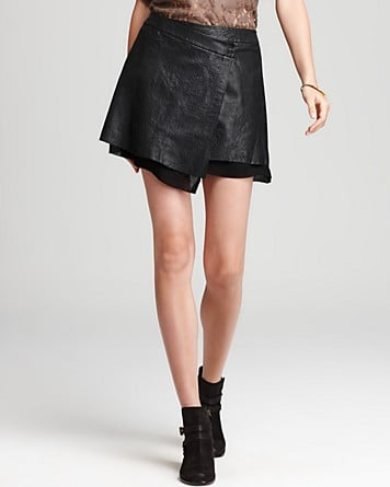 A nod to the Asian influence with a wrap-style silhouette, this Joie Bryson Leather Miniskirt ($528) would become the focal point of any outfit.