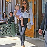 Victoria Beckham and Harper Beckham went to Pastis.