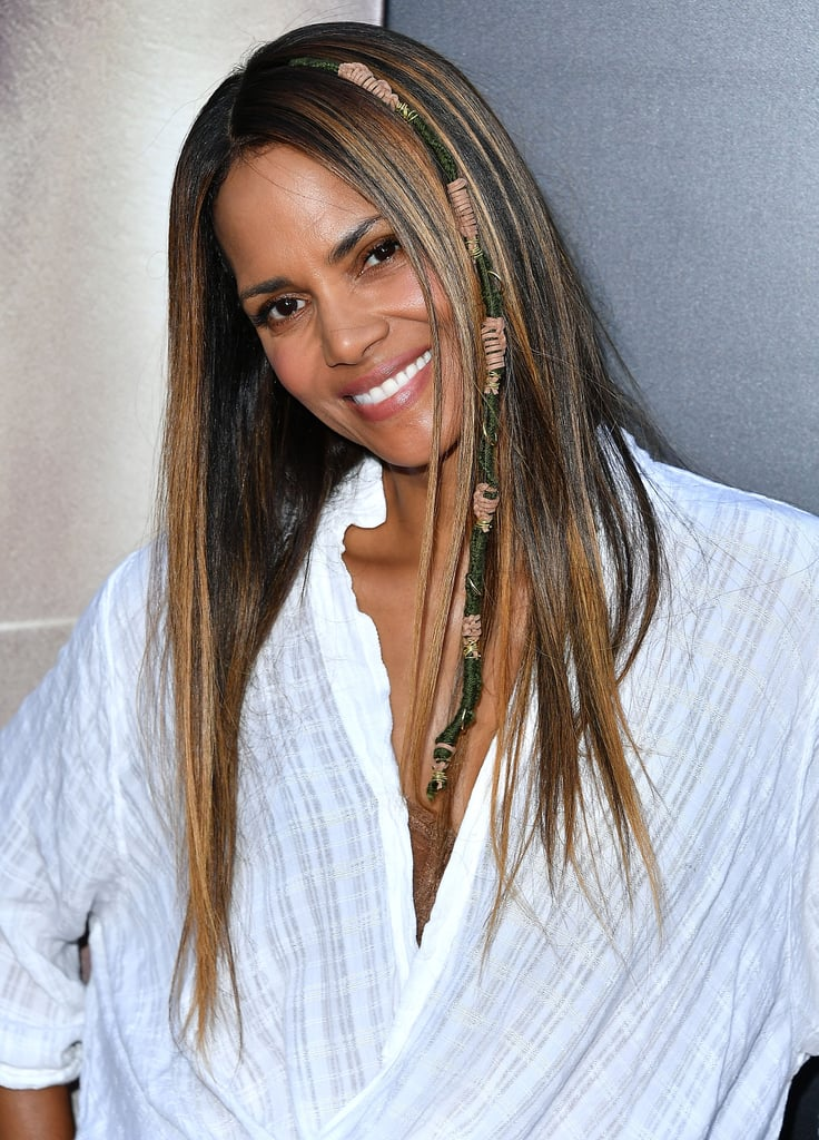Halle Berry Hair Wraps 2017