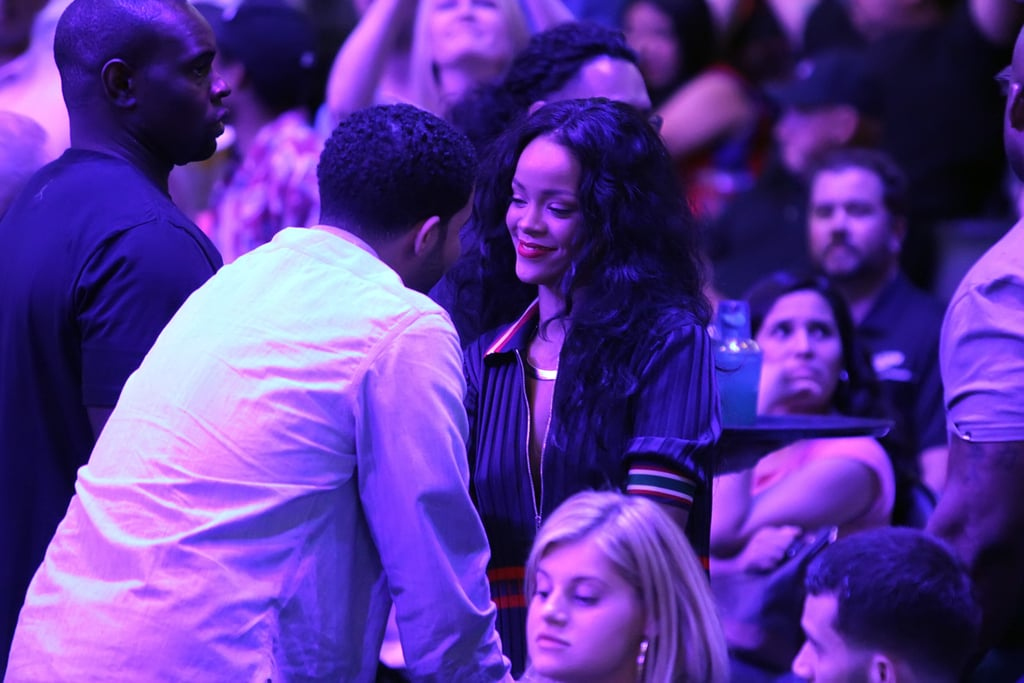 Drake and Rihanna Went to a Basketball Game Together, but Not