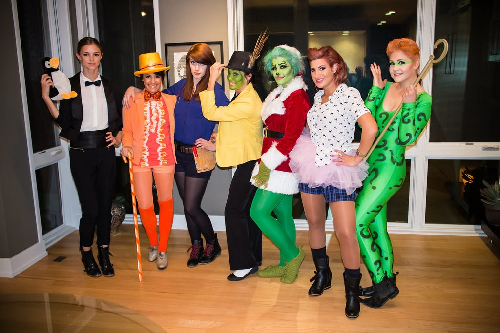 In 2013, it was the year of Jim Carrey. From left to right: Mr. Popper from Mr. Popper's Penguins, Lloyd Christmas from Dumb and Dumber, The Cable Guy, Stanley Ipkiss from The Mask, The Grinch, Ace Ventura, and The Joker.