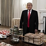 Trump Posed With His Feast