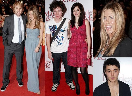 Photos Of Owen Wilson and Jennifer Aniston At The UK Premiere of Marley and Me + Kaya Scodelario, Leon Jackson, Ollie Barbieri