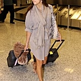 Eva Longoria traveled in style.