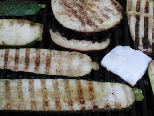 Grilled Vegetables With Halloumi Cheese