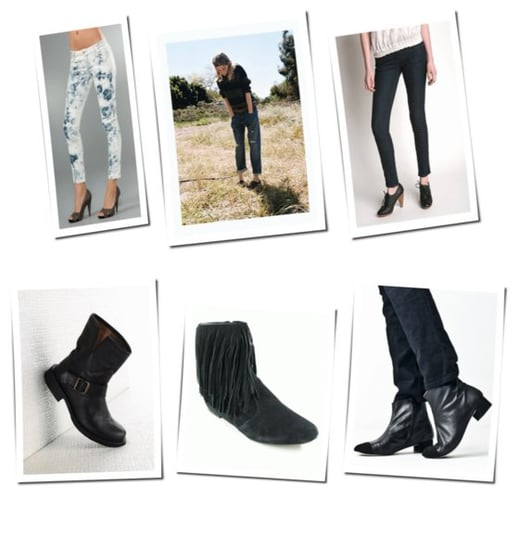 A Look We Love: Cropped Denim And Flat Ankle Boots