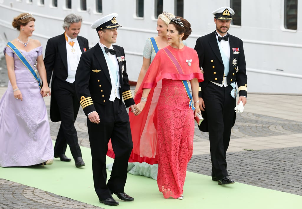 Prince Frederik and Princess Mary of Denmark were guests at Princess Madeleine's wedding in Stockholm on June 8.
