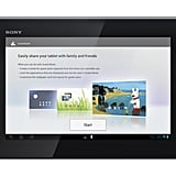 The Guest Mode feature on the Xperia Tablet S.