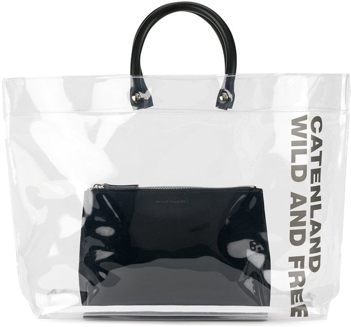 697429af89 DSQUARED2 Clear Tote Bag With Slogan