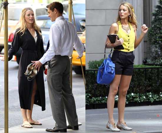 Pictures of Blake Lively and Mad Men's Sam Page Filming Gossip Girl in NYC
