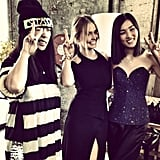 Lara Bingle linked up with bloggers Susie Bubble and Nicole Warne. Source: Instagram user mslbingle