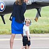 It Matched Prince George's Navy Shorts and Shoes!