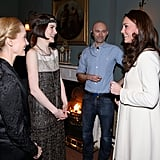 Kate Middleton Chats With Michelle Dockery and Joanne Froggatt During a Downton Abbey Set Visit