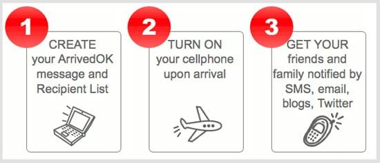 Use ArrivedOK to Let Friends and Family Know Your Flight Has Landed