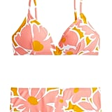 J.Crew Eco French Bikini Top in Pansy Print and Boy Short Bikini Bottom