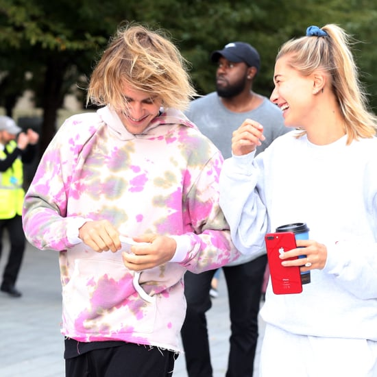 Justin Bieber Tie-Dye Sweatshirt Singing in London