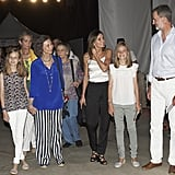 Queen Letizia's Black Sandals at Ara Malikian Concert 2018