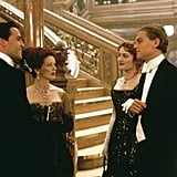 Billy Zane, Frances Fisher, Kate Winslet, and Leonardo DiCaprio in Titanic.