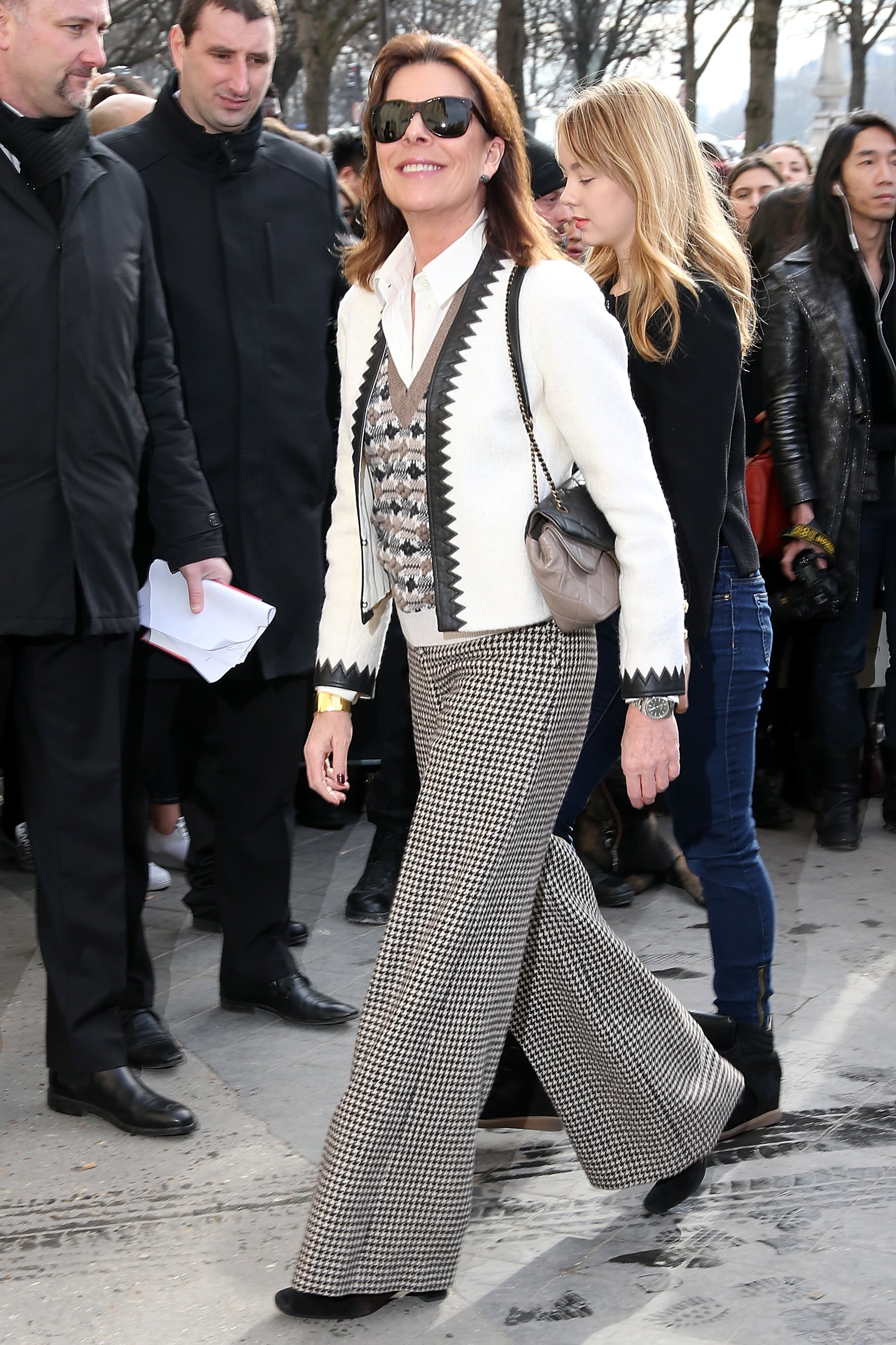 Princess Caroline Of Monaco At The Paris Fashion Week Chanel Show 9 Designers Every Royal Just Loves To Wear Popsugar Fashion Photo 17
