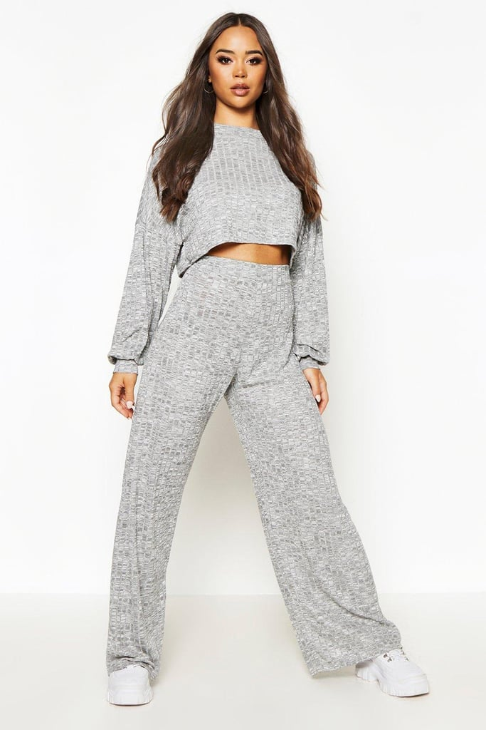 Oversized Slouch Crop Top & Trouser Coord Set