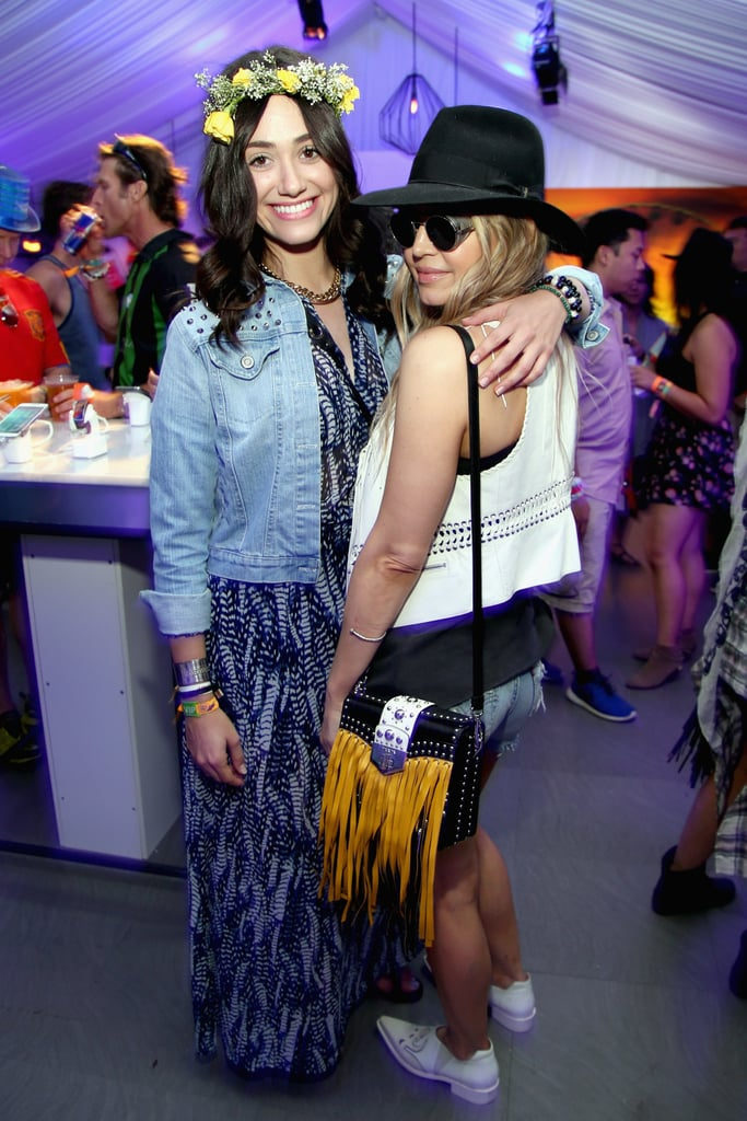 Emmy Rossum and Fergie posed.