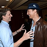 Matthew McConaughey got together with Jeff Nichols at the Mud screening at SXSW.