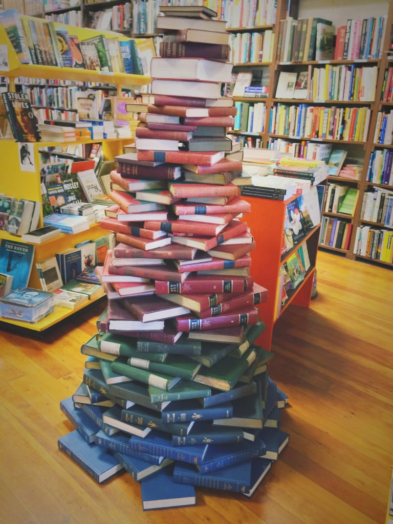 Your friends know which bookstore is your favourite because you spend so much time there.