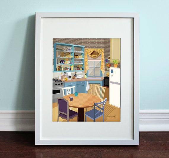 Monica's Apartment Print ($14)