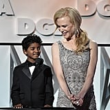 February: Nicole Presented at the Directors Guild Awards With Her Lion Costar Sunny Pawar
