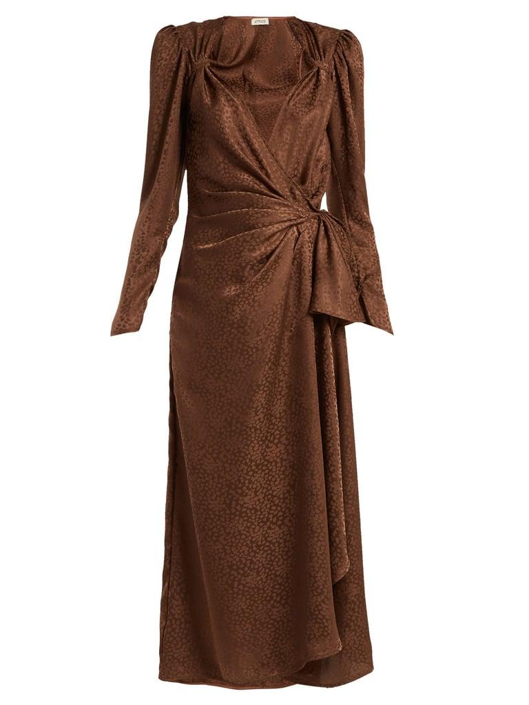 Attico Jacquard Midi Dress