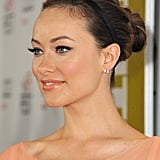 Olivia Wilde was pretty in peach in LA on Sunday.