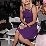 Maria Sharapova wearing purple at Rodarte.