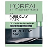 L'Oreal Paris Pure Clay Mask: Detoxifying & Brightening Charcoal Mask, $19.99