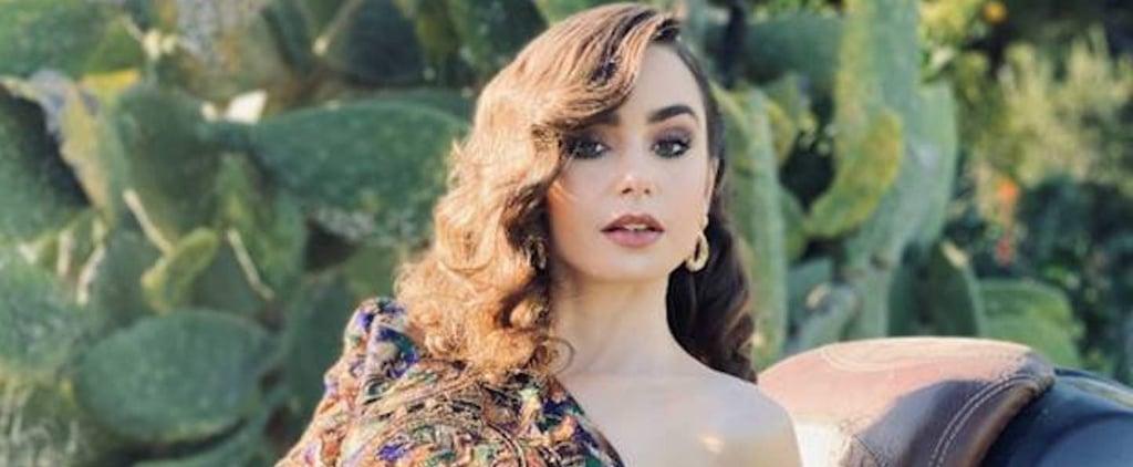 Lily Collins's Saint Laurent Dress at 2021 Golden Globes