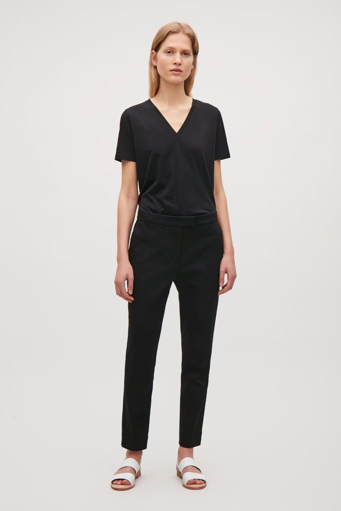 COS Textured Cotton Trousers