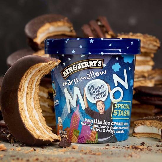 Ben and Jerry's Jimmy Fallon Marshmallow Moon Ice Cream