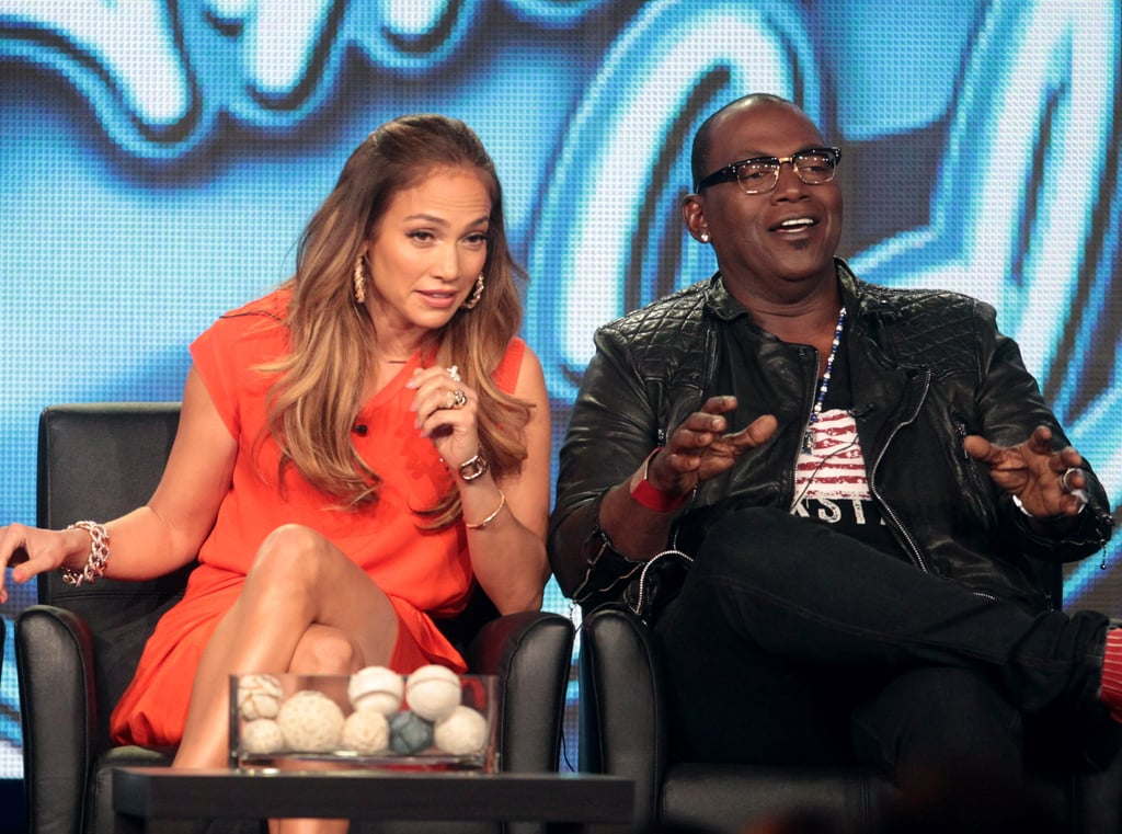 Jennifer Lopez, and Randy Jackson promote American Idol.