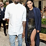 Kim and Kanye made a fashionable apperance at the CFDA/Vogue Fashion Fund Show in October 2015.