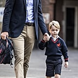 A Very Smart and Serious-Looking Prince George Attends His First Day of School