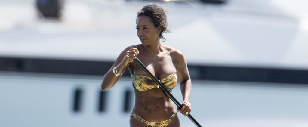 Mel B Whips Her Hair Back and Forth During a Bikini-Clad Afternoon on a Yacht