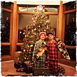 Jayden and Sean Preston Federline looked more than excited about their new skateboards on Christmas Eve.