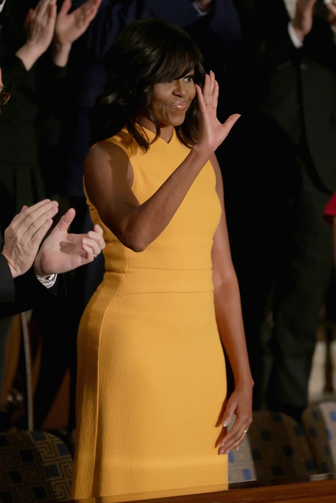 Wait a Minute — Is Michelle Obama's Dress Yellow or Orange?